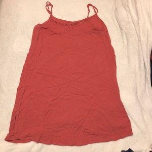 Super cute coral thin dress!!